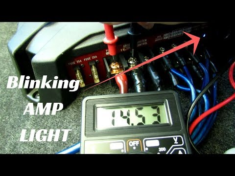 Amp light BLINKING