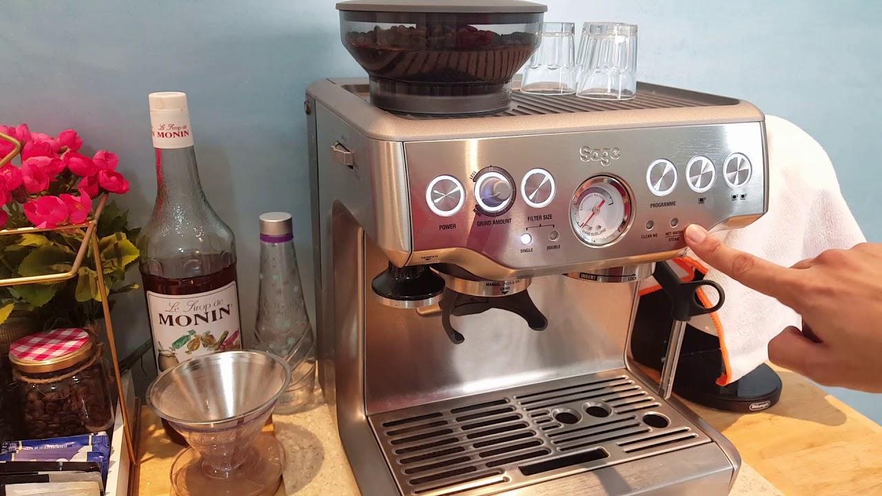 شرح ماكينة القهوة Breville Barista Youtube