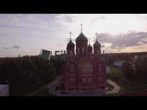 Aerial view of Ascension Cathedral in Lukino Village, Russia