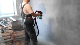 Краскораспылитель Bosch PFS 3000-2 . Краскопульт(Краскопульт Bosch PFS 3000-2 . Грунтование стен. Скорость работы., 2015-04-17T19:51:06.000Z)