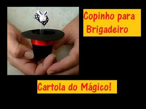 173312655dde6 DIY- Copinho para brigadeiro - Cartola Mágico - Raquel Fontinele ...