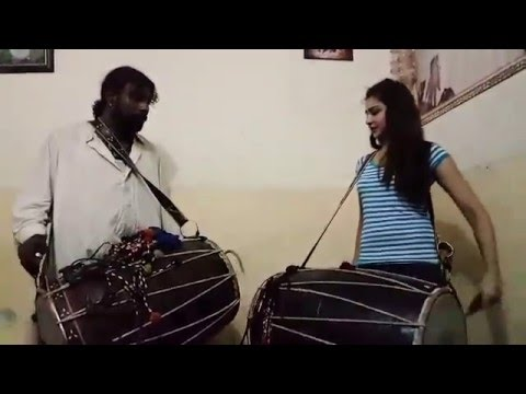 Gonga sain teaching Dhol to Arishma