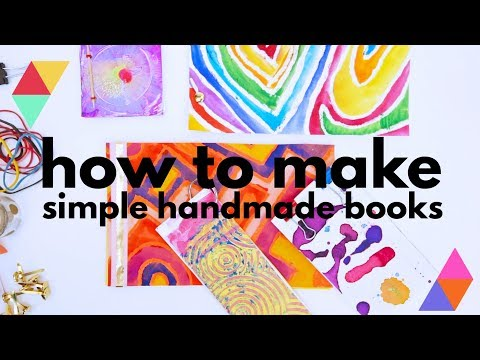 5 Simple Book Binding Methods | CREATIVE BASICS Episode 12