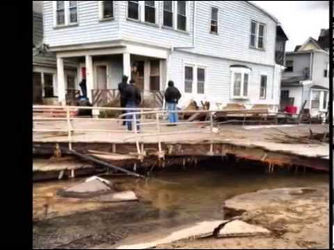 Horricane Sandy hit Far Rockaway, NY. before & after