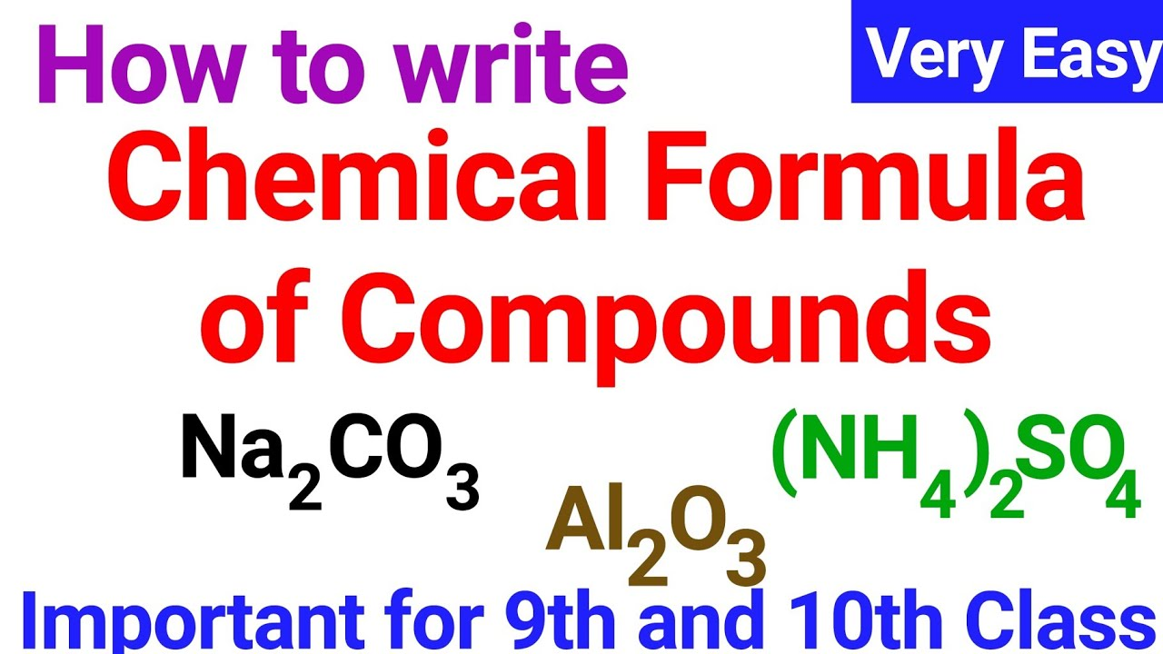 how to write chemical formula of compounds  youtube