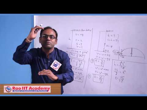 Motion Under Gravity - IIT JEE Main and Advanced Physics Video Lecture [RAO IIT ACADEMY]