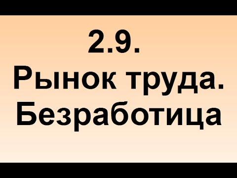 2.9. Рынок труда. Безработица