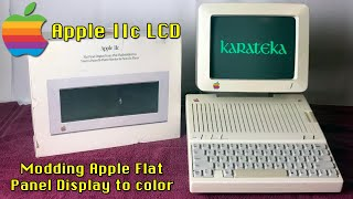 Apple IIc Flat Panel Display Color Composite LCD Conversion