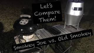 """Old Smokey Small: A Review Of The 14"""" And Comparison To Weber Smokey Joe."""