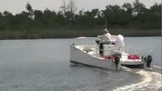 Twin Engine Lightweight Catamaran Trials