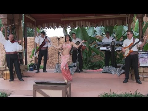 Mo'Rockin band and belly dancer in Morocco Pavilion at Epcot