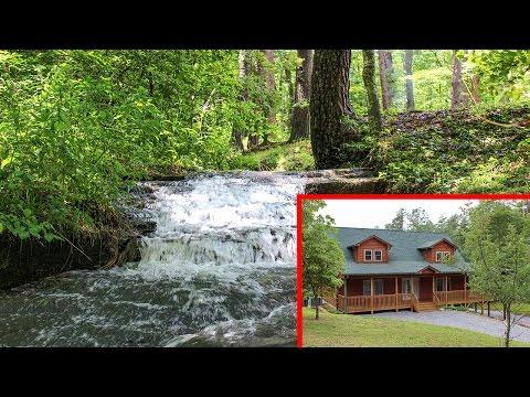 Lake Lure Real Estate Presents: Log Home With BOLD STREAM - 382 Westridge Drive, Lake Lure, NC