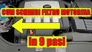 cum se schimbă filtrul de motorină la vw golf 5 mk5 2 0 tdi tutorial n 9 paşi simpli