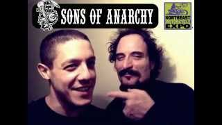 SOA stars Kim Coates (Tig) & Theo Rossi (Juice) Welcome you to the Northeast Motorcycle Expo!