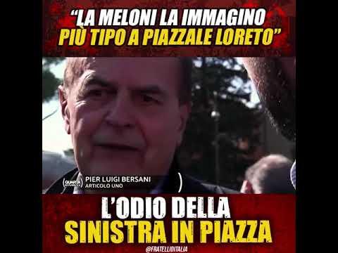 Giorgia Meloni: L'odio della sinistra in piazza. E ti fanno pure la morale, che schifo!