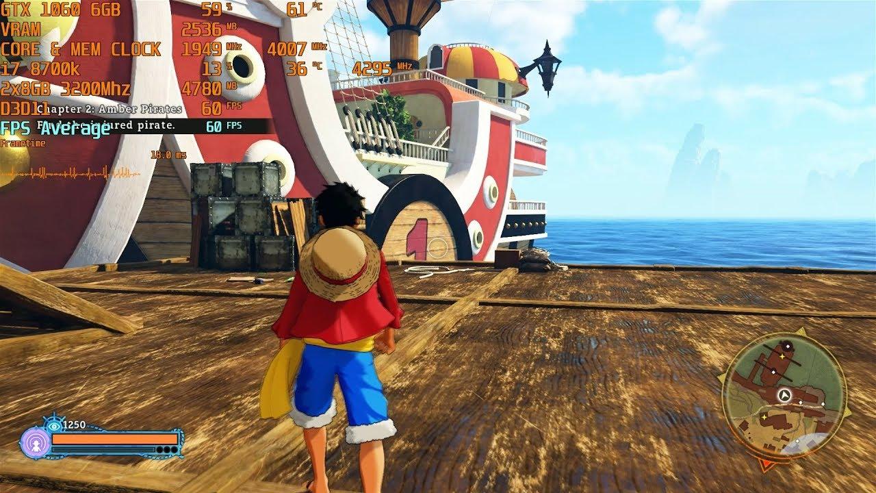 One Piece: World Seeker - Max Settings - GTX 1060 6GB | i7 8700k (stock) [  1080p]
