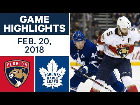 NHL Game Highlights | Panthers vs. Maple Leafs - Feb. 20, 2018