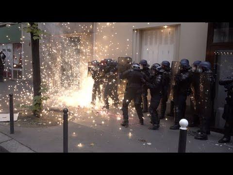 Manifestation Contre La Loi Securite Globale Violents Incidents 5 Decembre 2020 Paris 4k Youtube