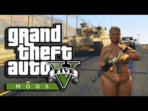 GTA 5 PC Funny Character Mods! Sexy Girls, Merryweather & Police Mod (GTA 5 PC Gameplay)