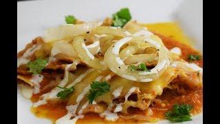 Receta Chilaquiles en Salsa de Habanero, super facil,