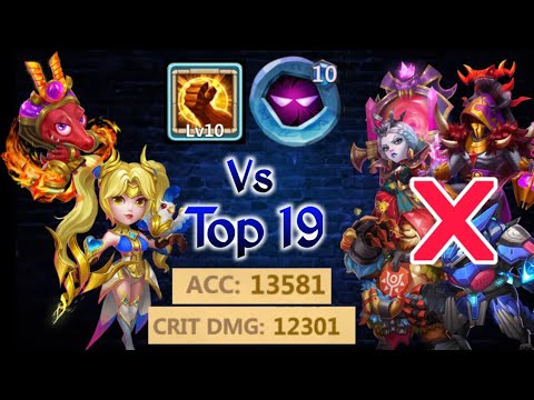 Dove Vs Top 19 | 14 Skill | Rip Bloody 😑😑 |  Op...!!😎😎 | 10 BF | 10 UP | New Pet | Castle Clash