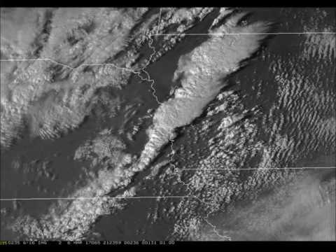 GOES-16 One-Minute Imagery of Severe Storms over Nebraska