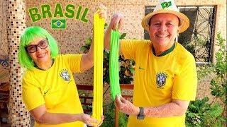 VOVÓ E VOVÔ FAZENDO SLIME DA SELEÇÃO BRASILEIRA!