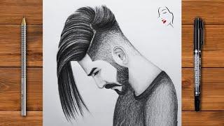 boy drawing sketch easy pencil draw face crazy way sketcher