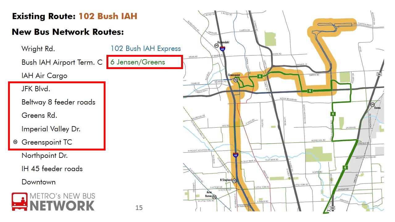 New Bus Network Route - 102 Bush IAH