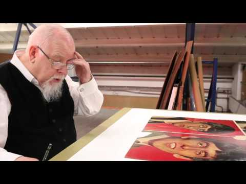Sir Peter Blake at Coriander Studios