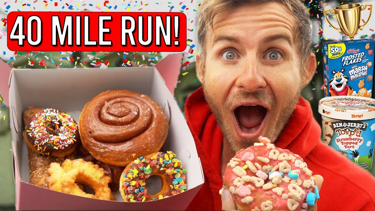 Erik Ate WHATEVER He Wanted After Running 40 MILES! (Cheat Day)