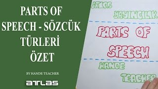 PARTS OF SPEECH - SÖZCÜK TÜRLERİ - ÖZET