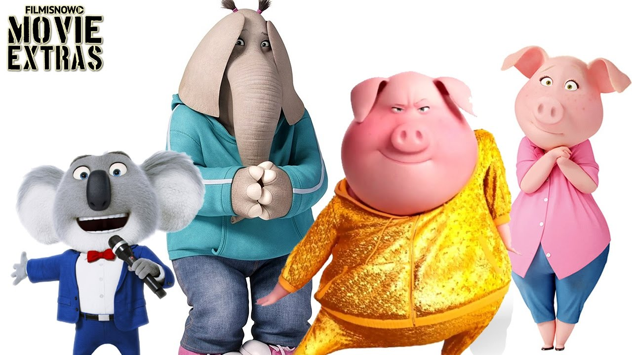 Sing Characters Featurette Buster Rosita Gunter And Meena 2016