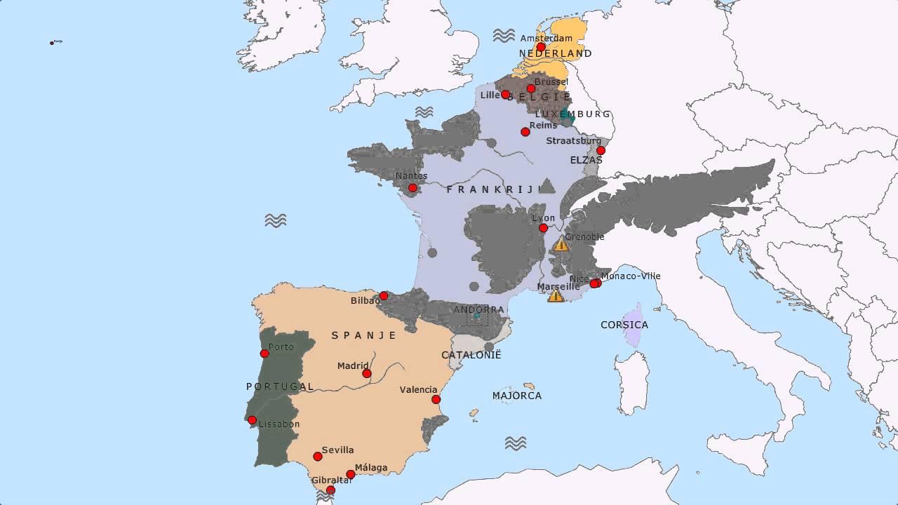 Topografie Frankrijk Spanje En Portugal Youtube
