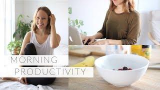 MORNING PRODUCTIVITY HABITS | 6 ways to feel motivated, productive & energized