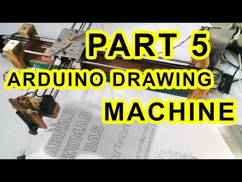 Crazy Engineer's Drawing Robot / Arduino GRBL CoreXY Servo