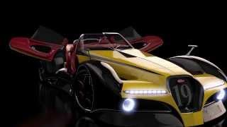 Bugatti 12.4 Atlantique concept Grand Sport - Full HD 3D animation