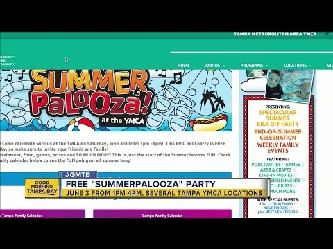 Tampa YMCA to stage free Summerpalooza parties