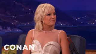 Malin Akerman Came To Hollywood With $40  - CONAN on TBS