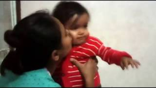 Cute Little Baby Yagni Biting Her mother | Funny | VID 2015/02/04 212406