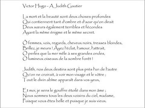 Hugo A Judith Gautier La Mort Et La Beauté