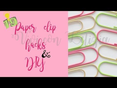 19 PAPER CLIPS LIFE HACKS & DIY