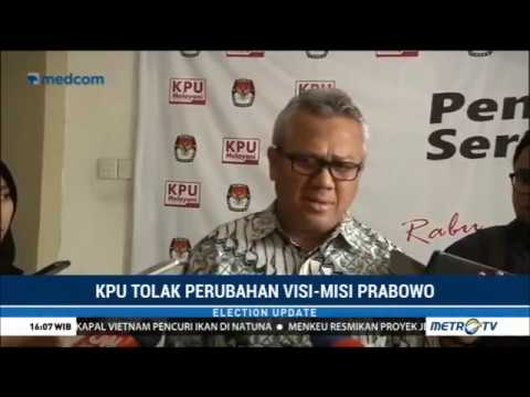 KPU Tolak Perubahan Visi Misi Prabowo-Sandi Mp3