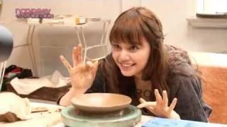 雑誌ノンノの人気連載・岸本セシルの『ガンバLUU』の撮影に潜入♪ 陶芸に...