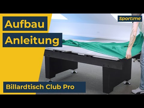 "Video: Automaten Hoffmann Billardtisch ""Club Pro in Nussbaum"""