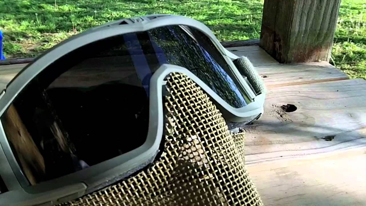 How To Custom Fit A Mesh Mask To Your Goggles Youtube