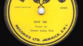 Not Me [10 inch] - Denzil Laing Trio (The Wigglers)
