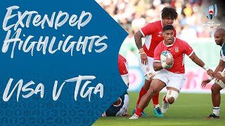 Extended Highlights: USA v Tonga - Rugby World Cup 2019