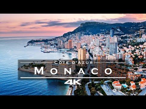 Monaco, Côte d'Azur 🇲🇨 - by drone [4K]