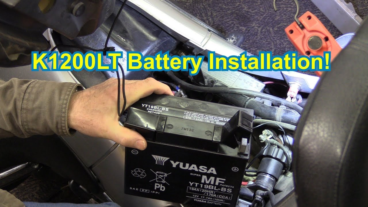 BMW K1200LT DIY Battery Installation - YouTube